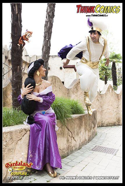 Aladdin and Jasmine Cosplayers