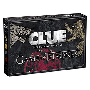 The plot of Game of Thrones in both its book and HBO television series incarnations involves a mess of murders, which makes it a perfect fit for this board game. Game of Thrones Clue plays just like classic Clue, but with GoT-themed goodness bundled in.