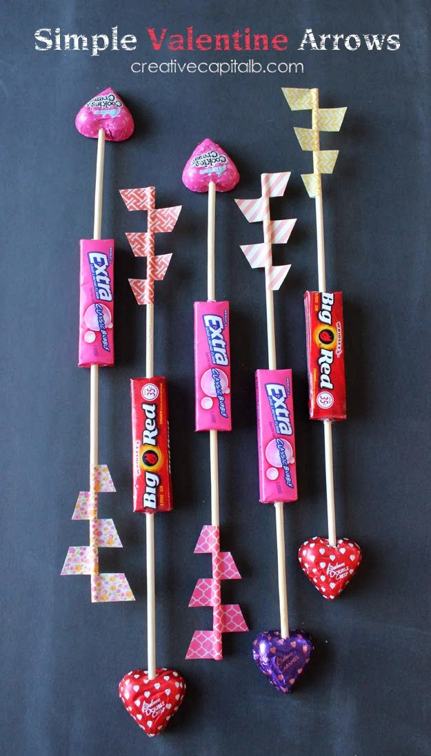 Capital B: Simple Valentines Gum and Washi Tape Arrows