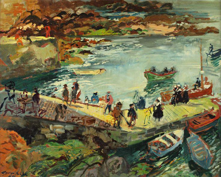 Emilio Grau Sala. The Port of Manech, Finistere, 1947