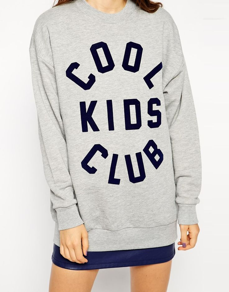 ASOS Sweatshirt with Cool Kids Club Print