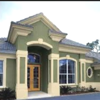 love the green stucco painting servicesexterior sidingexterior homesexterior paintcolor