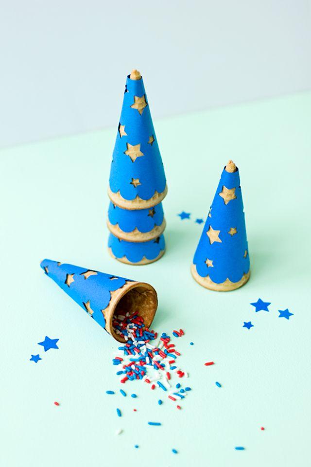 Silhouette America Blog   Patriotic Ice Cream Cone Wrappers