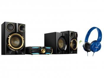 Mini System Philips 1 CD 1600W RMS - Bluetooth NFC + Headphone/Fone de Ouvido Philips