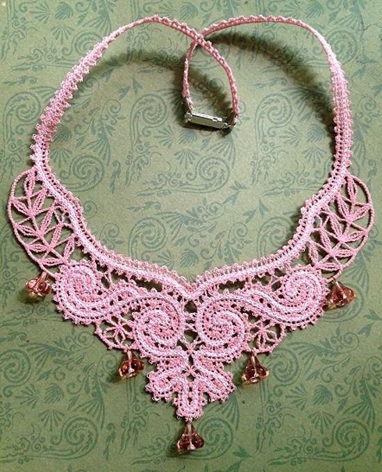 Advanced Embroidery Designs - FSL Battenberg Classical Revival Necklace