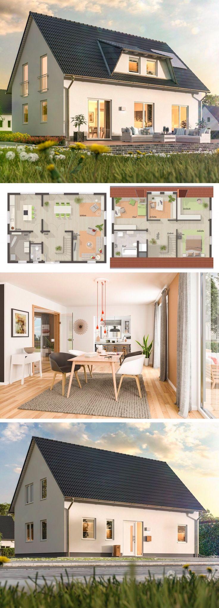 Einfamilienhaus Architektur klassisch mit Satteldach