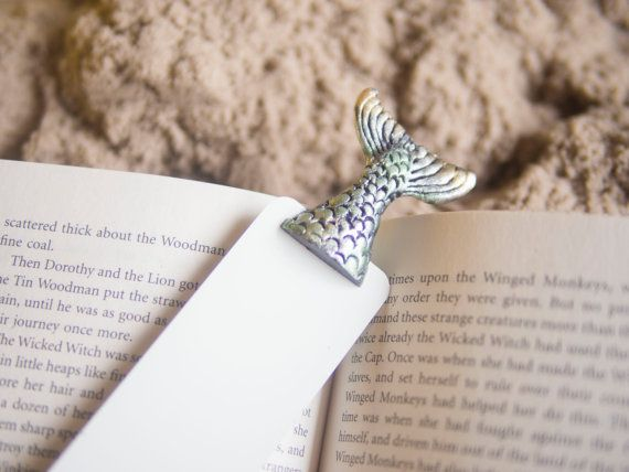 Mermaid tale in the book .Unusual art bookmark. by MyBookmark