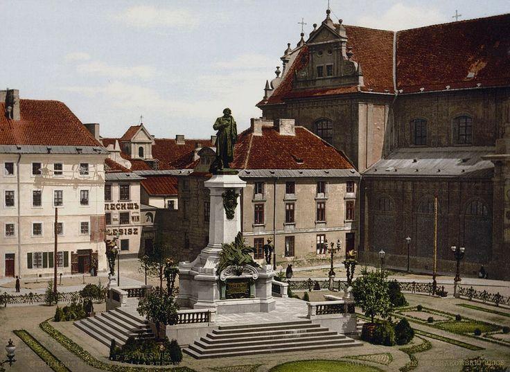 Pomnik Adama Mickiewicza w Warszawie – ok.1900