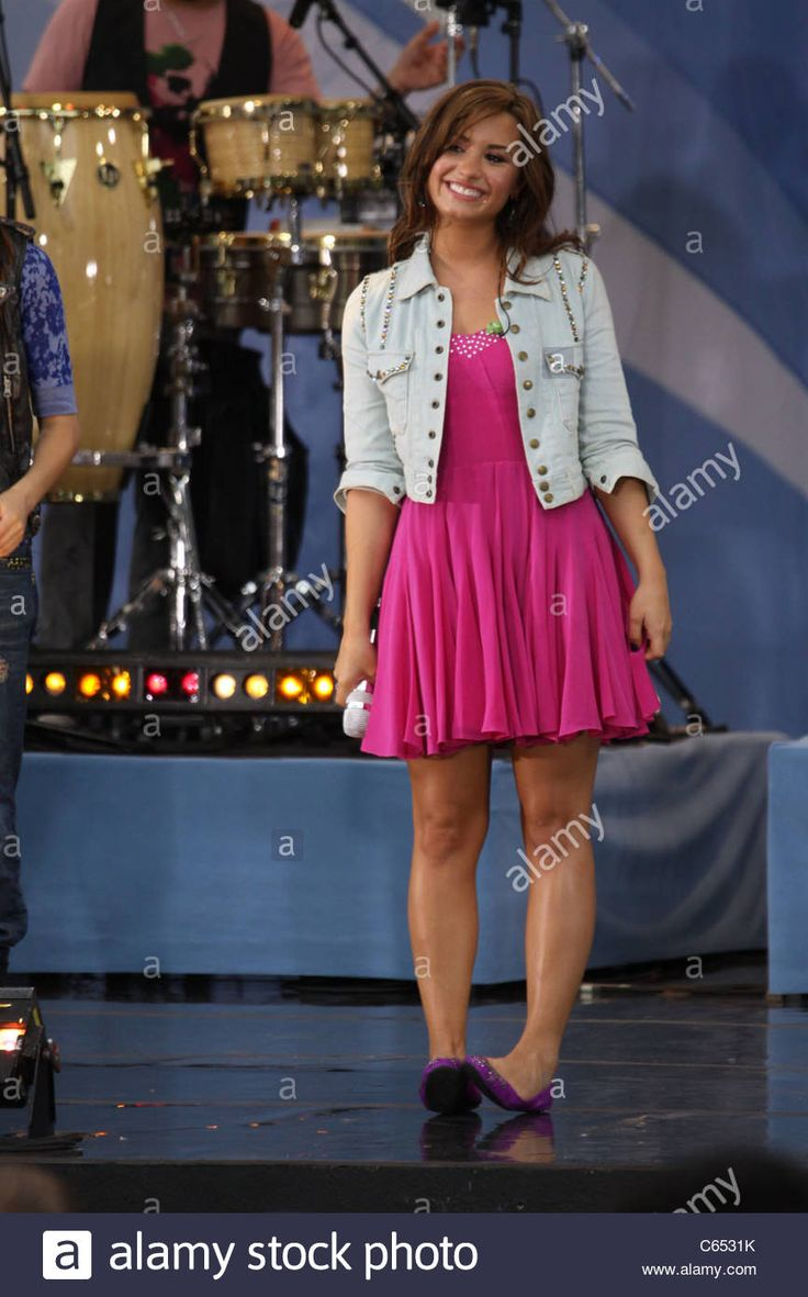 Demi Lovato on stage for Good Morning America GMA Concert Series with The Jonas Brothers, Rumsey Playfield in Central Park, New - C6531K from Alamy's library of millions of high resolution stock photos, illustrations and vectors.