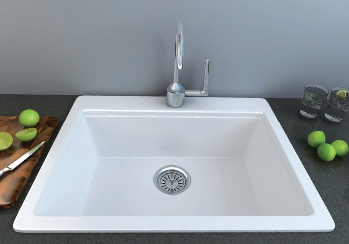 Sharsa Lab Sink with Tap Hole - 635 x 555 mm - Including Basket Waste