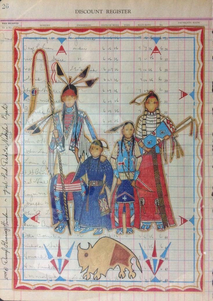 Dakota family ledger drawing -  D. GrowingThunder