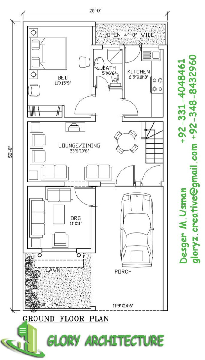 2550 House Plan5 Marla House Plan Houses Plans House Plans 5
