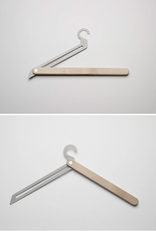 Folding cloth hanger.  Extra Ordinary Objects, Jennifer Rabatel