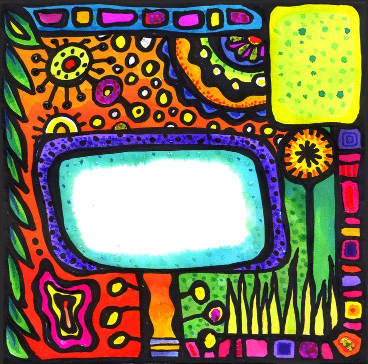 Voorkant envelop in de stijl van Friedrich Hundertwasser - door El' Papel