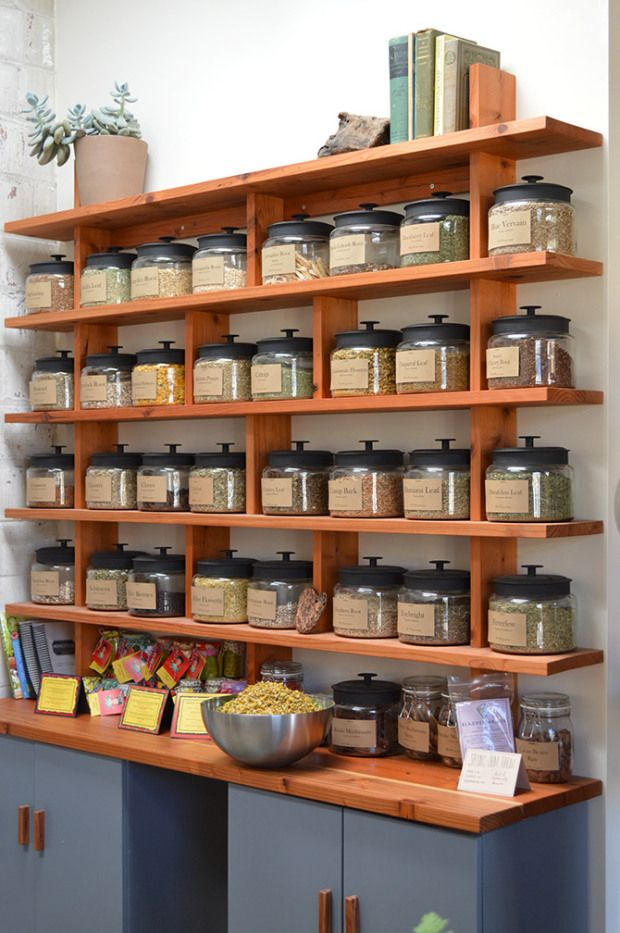 This would be a cool way to organize spices or teas.