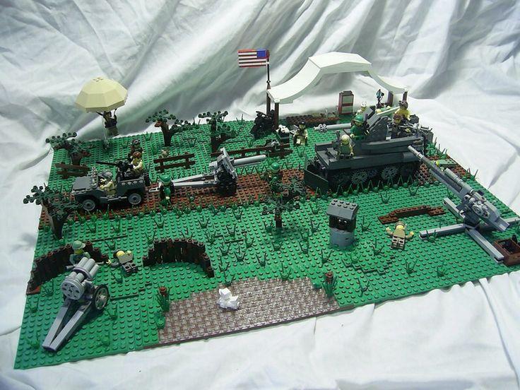 LEGO. WW2 scene