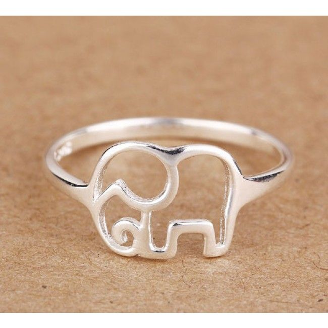 I am so happy to find the Cute Simple Hollow Elephant Silver Ring from…