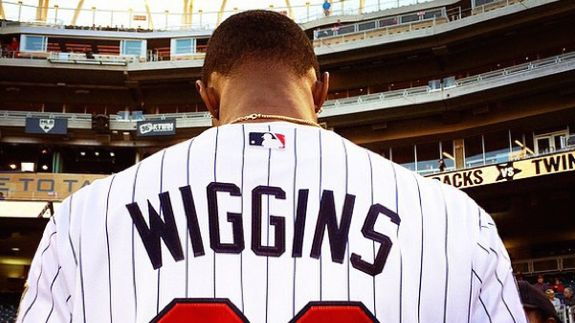 Andrew Wiggins Throws Out First Pitch at Twins Game (VIDEO)