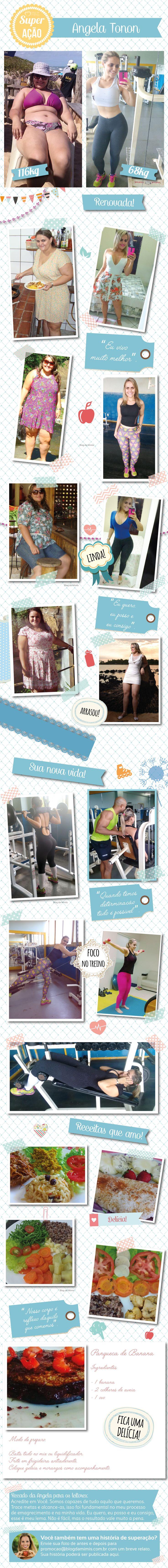 Superação Angela: ela emagreceu 48kg e casou-se com o personal - Blog da Mimis - Angela, que tinha 116Kg, deixou a obesidade de lado e foi ser feliz! #obesidade #emagrecimento #emagrecer #loseweight #dieta #diet
