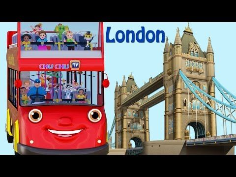 Wheels On The Bus Go Round And Round Song | London City  | Popular Nursery Rhymes by ChuChu TV - YouTube