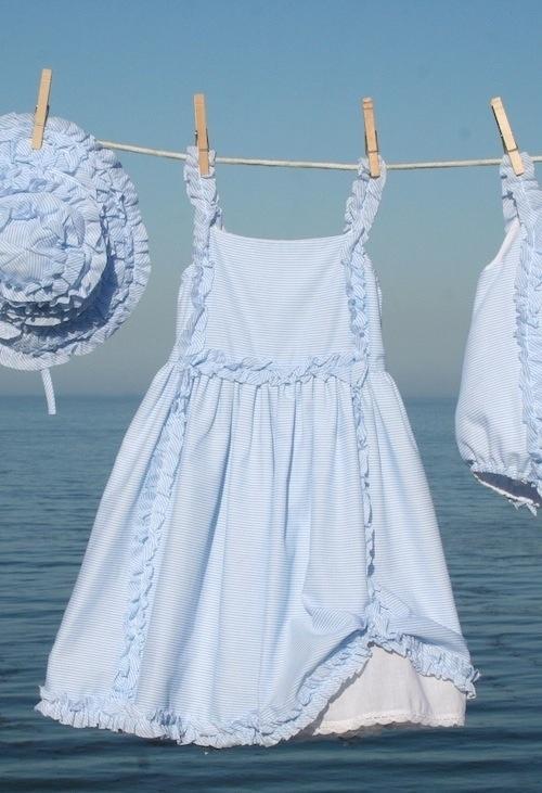 Seaside blues on the washing line
