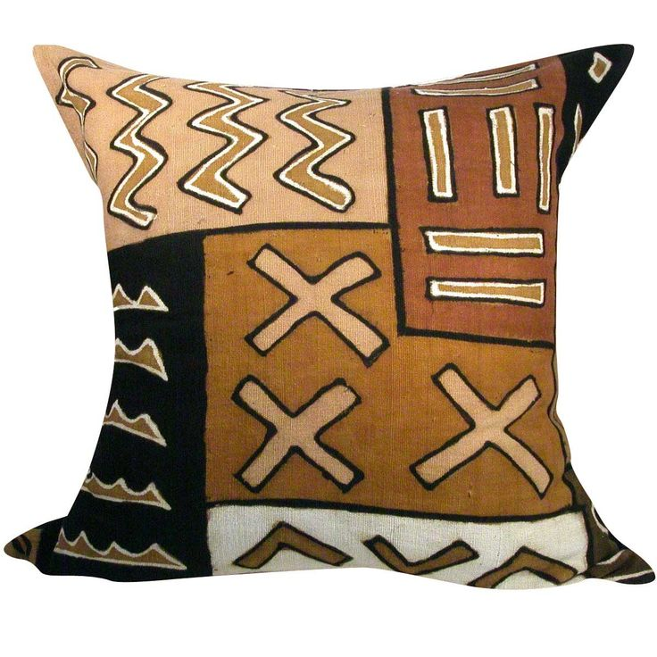 Afrocentric Style African Contemporary Mudcloth Throw Pillow Great Source for African Items for your home!