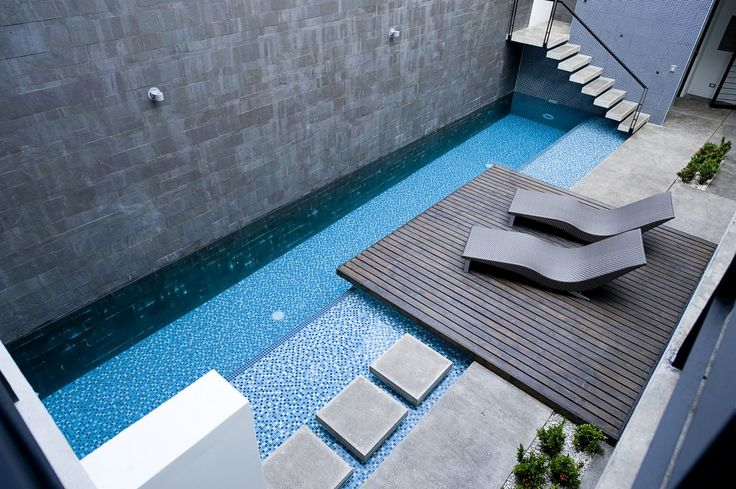 Great pool, not too big and very private