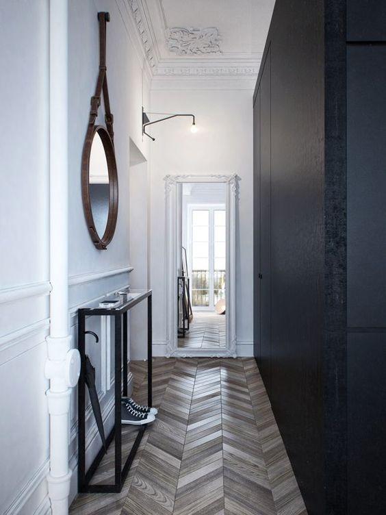 Узкие коридоры: 15 примеров. Как сделать так, чтобы узкий коридор был стильным? Мы нашли 15 примеров с использованием консолей, кн...
