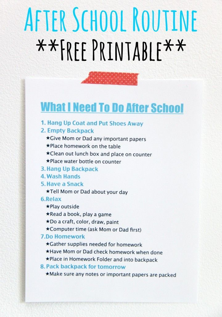 Best 25+ After school schedule ideas on Pinterest | After school ...