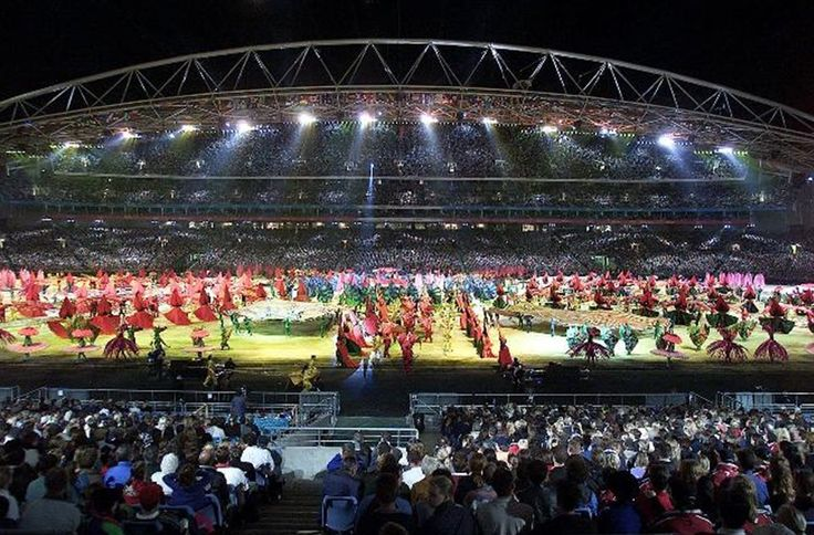 The Sydney Olympics Opening Ceremony spectacular featured thousands of artists and was created by Ric Birch. Picture: Craig Borrow