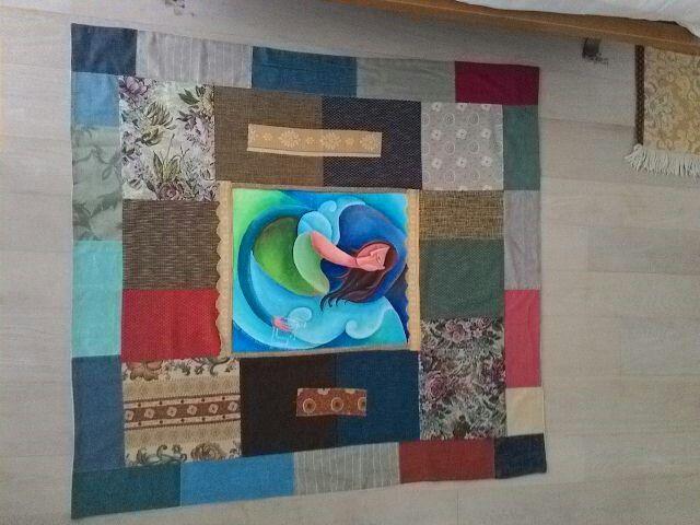 Tappeto dipinto creazione di Frida B.
