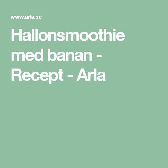 Hallonsmoothie med banan - Recept - Arla