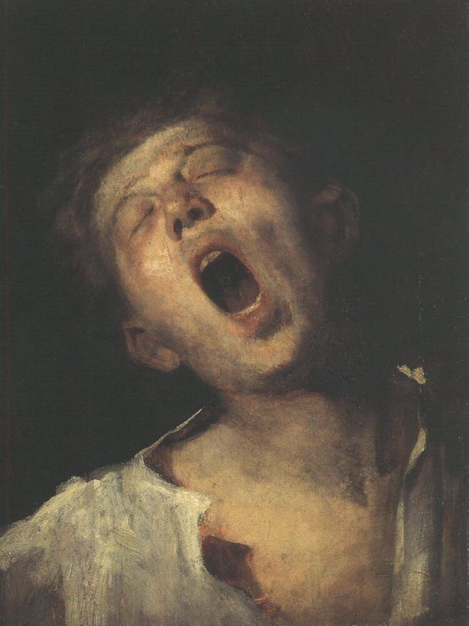 Mihály Munkácsy - Yawning Apprentice, 1868-69