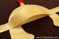 Step 10 Roman Imperial Helmet craft