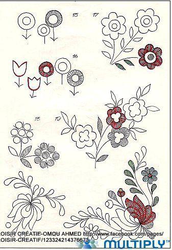 رسوم جديده للتطريز اليدوي - new embroidery designes ~ شغل ابره NEEDLE CRAFTS