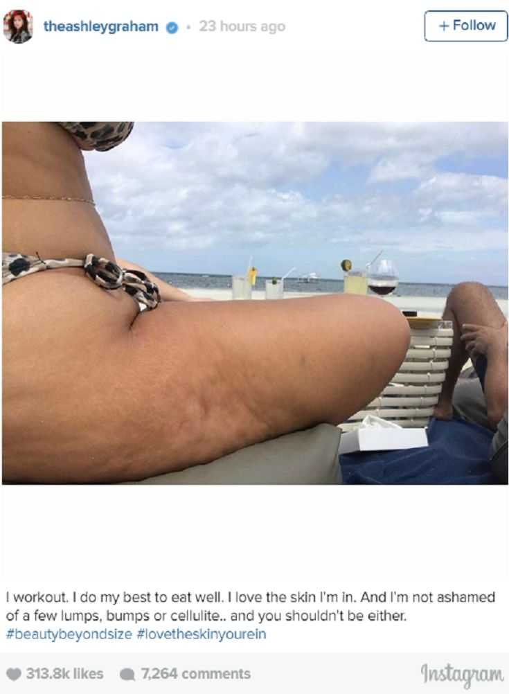 Ashley Graham Proudly Flaunts Cellulite In Tiny Bikini: 'Not Ashamed' Of 'Lumps'