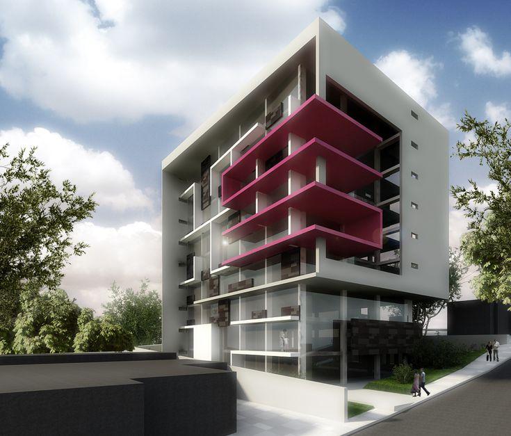 Propuesta esquema básico de edificio multifamiliar - diseño y visualización DH
