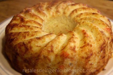 Retales de ingenio: Recetas y Dietética: Pastel de coliflor y marisco