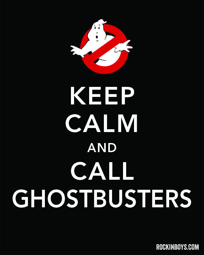 Happy October! Free Ghostbusters Halloween Printable - Rockin Boys Club