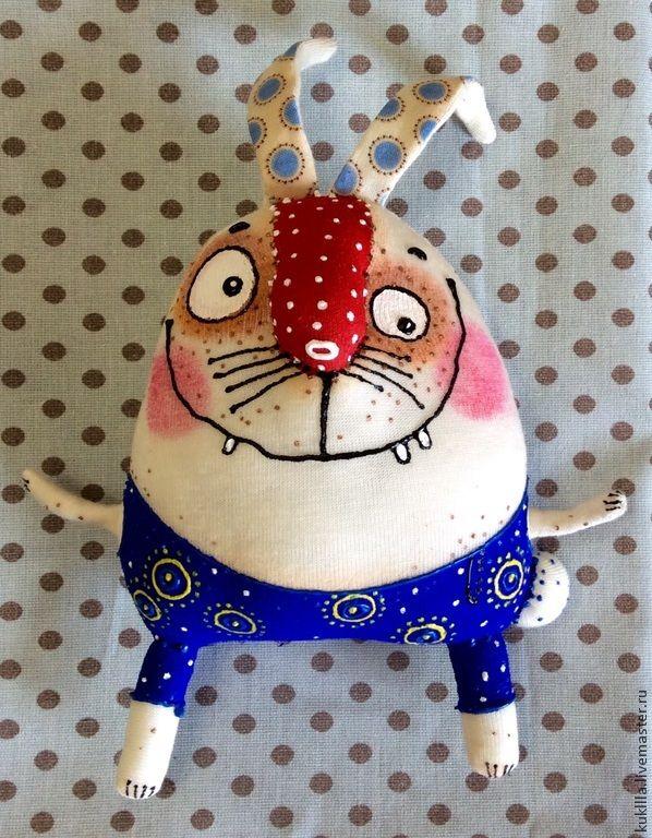Смешные зайцы - белый,зайка,пасхальный зайчик,подарок на Пасху,заяц текстильный
