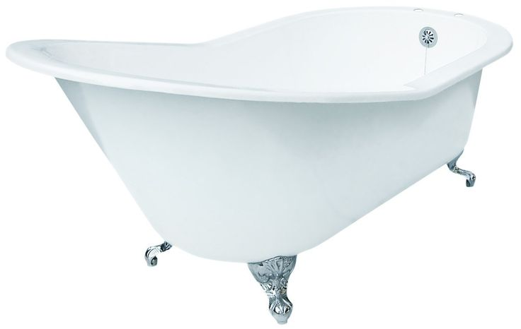 View the Elizabethan Classics ECGDSLTAP 67-Inch Slipper Cast Iron Claw Foot Soaking Tub with 2 Pre-Drilled Faucet Holes at Build.com.