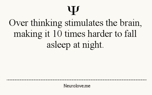 This is so true it's painful!! Literally, I'm always tired and clumsy due to the fact I can't stop thinking I don't get much sleep, lol!