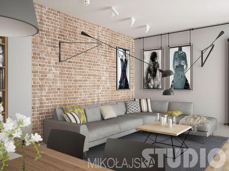 Salon w stylu loftowym #loft #styl industrialny #wnętrza