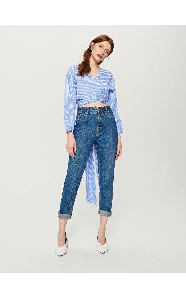 Blugi MOM FIT, Jeans, albastru, RESERVED