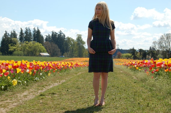 Tartan Plaid Dress Handmade and Designed by by vintagereformer, $49.99