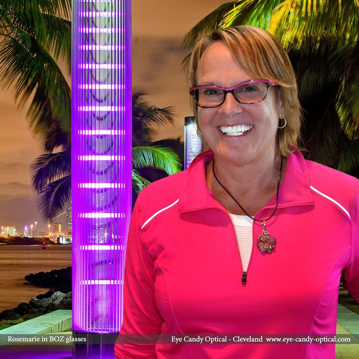 Rosemarie sports a sweet summer look in Miami wearing in her BOZ designer glasses by J.F. Rey. Eye Candy - Come and experience the finest European Eyewear Fashion! Eye Candy Optical Cleveland - The Best Glasses Store! (440) 250-9191 - Book an Eye Exam Online or Over the Phone www.eye-candy-optical.com
