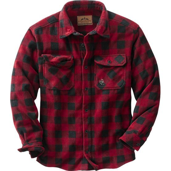 Men's Navigator Fleece Buffalo Button Down Shirt at Legendary Whitetails