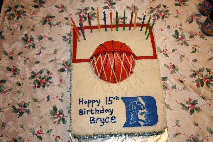 Duke Blue Devils Basketball Cake Cakes And Cupcakes