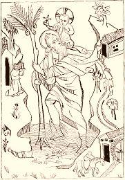 Guide des légendes et superstitions régionales de France. Vieille légende de saint Christophe, Offerus. Légende régionale, superstition locale. Croyances locales et régionales, croyance de nos régions, légende locale de France, superstition ancienne, cérémonies rituelles, cérémonie rituelle, mythes, mythe, rites, rite ancien, rituels, rituel, astrologie, alchimie, alchimistes, sorcellerie, sorciers, sorcier, sorcières, sorcière, magie, magiciens, magicien, fées, fée, sacrifices, sacrifice…