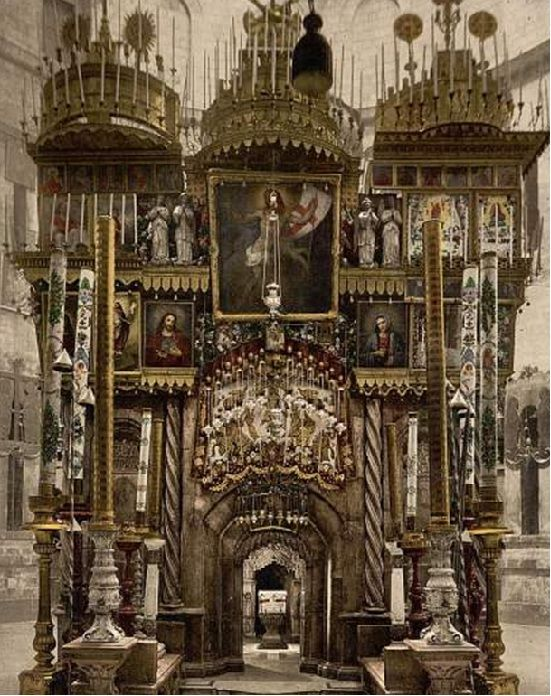 Photo of the Inside Church of the Holy Sepulchre ancient picture